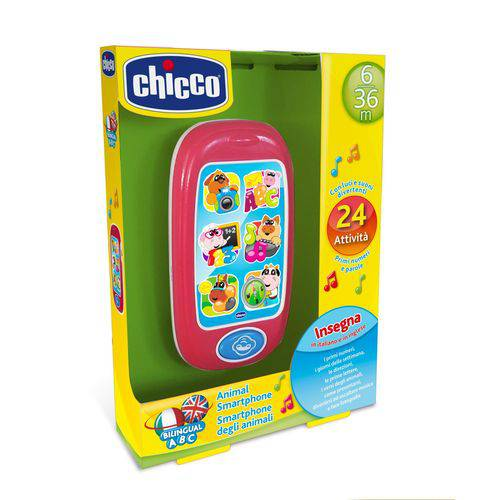 Brinquedo Celular Infantil Chicco Smartphone Bilíngue (6M+)