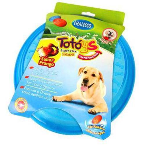 Brinquedo Chalesco Frisbee Totóys Disco Flex Sabor Frango - Cores Variadas
