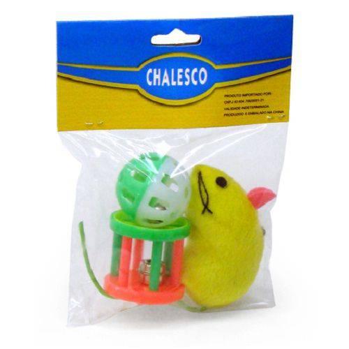 Brinquedo Chalesco para Gatos Rato, Bola e Sininho