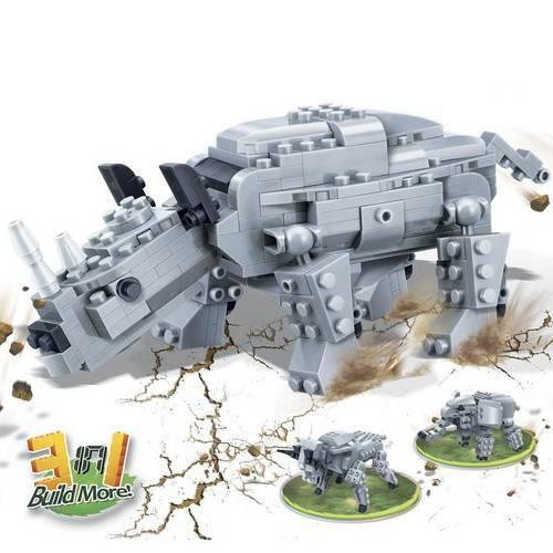 Brinquedo Criaturas Rinoceronote 295 Peças 6851 - Banbao