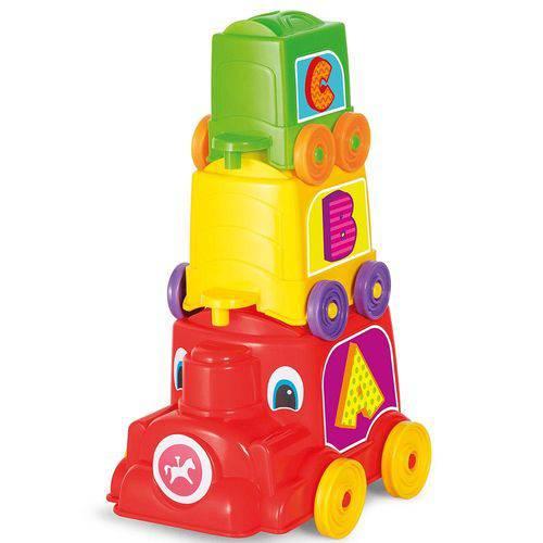 Brinquedo de Encaixe Locomotiva Animada Calesita Ref 733