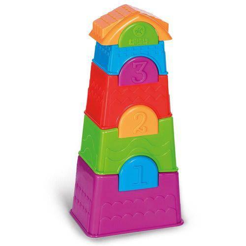 Brinquedo de Encaixe Torre Maluca Calesita Ref 730