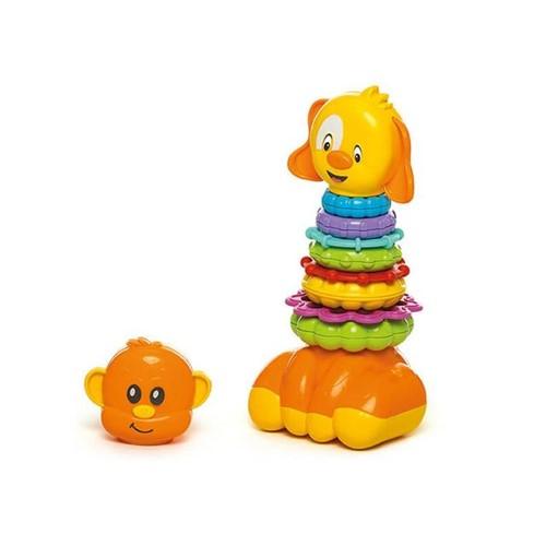 Brinquedo de Encaixe Zoo Argolas 866 Calesita Laranja