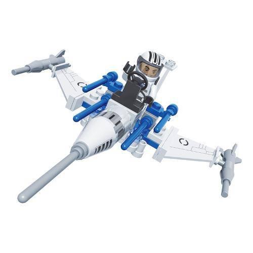 Brinquedo de Montar Nave Caça com 58 Pcs