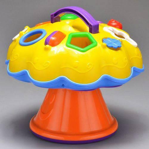 Brinquedo Educativo de Encaixe Didático Cogumelo