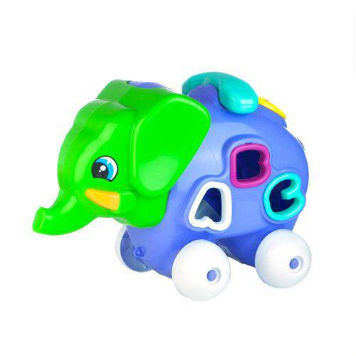 Brinquedo Educativo Elefante Feliz Calesita Lilás