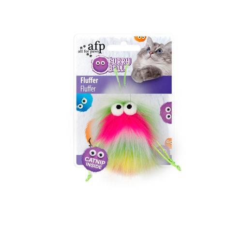Brinquedo Furryball Fluffer Afp para Gatos Rosa