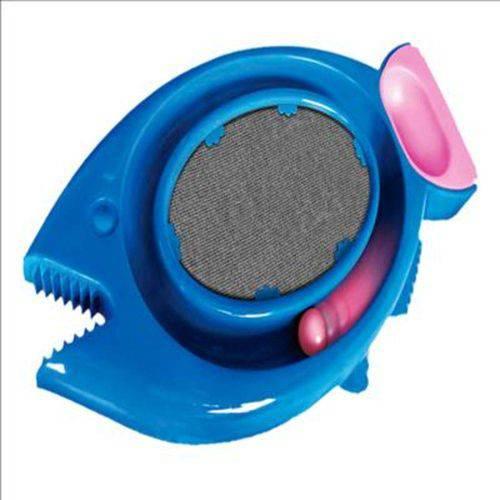 Brinquedo Gato Arranhador Dura Pets Peixe Comedouro Azul