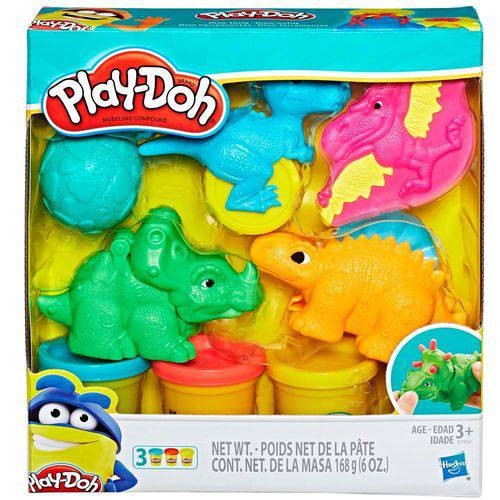 Brinquedo Hasbro Conjunto Play-Doh Moldes de Dinossauros