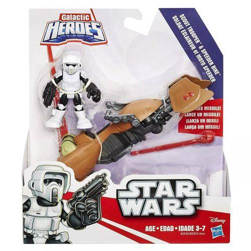 Brinquedo Hasbro Star Wars ScoutTrooper e Speeder Bike B2033