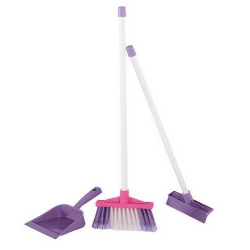 Brinquedo Infantil Kit de Limpeza Simples Rosa Calesita 1202