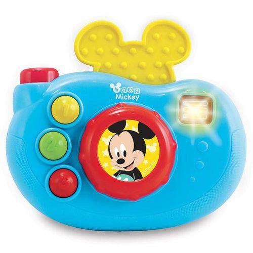 Brinquedo Musical Câmera Mickey Dican Azul - 3729