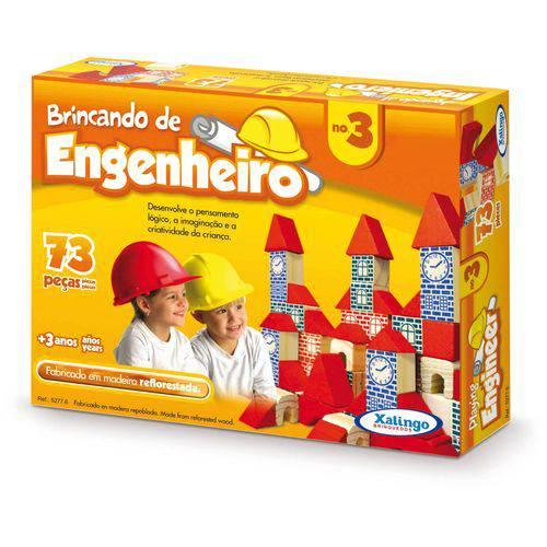 Brinquedo para Montar Brincando de Engenheiro3-73pcs Xalingo