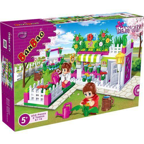 Brinquedo para Montar Mundo Encantado Florista 252p Unidade 6116 - Banbao