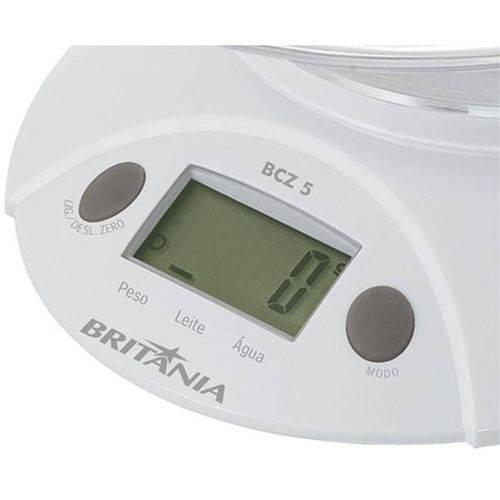 Britânia Balança Digital para Cozinha Bcz 5 Até 5Kg Branca