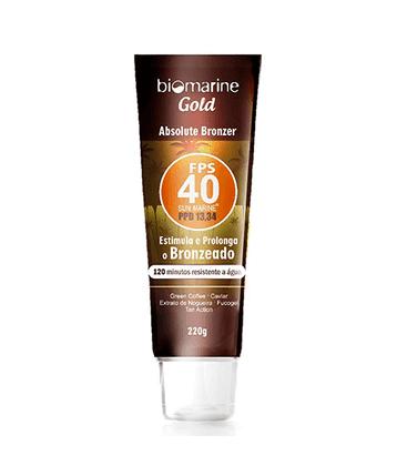 Bronzeador Biomarine Gold Absolute Bronzer FPS 40 220g