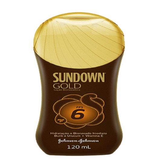 Bronzeador Sundown Gold Fps6 Loção 120ml