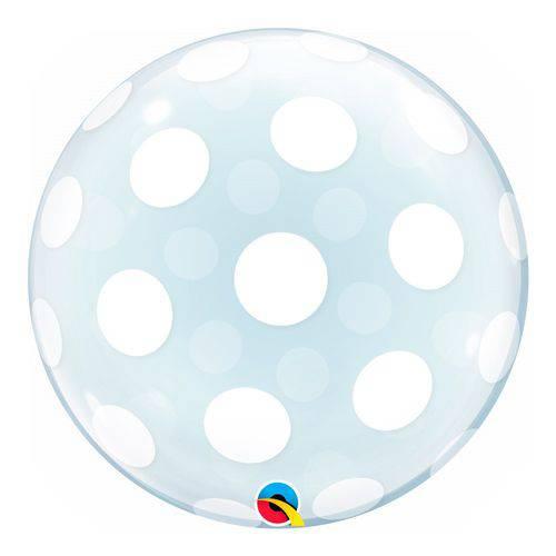 Bubble Decorativo 20 Polegadas - Decorado com Pontos Polka - Qualatex