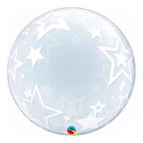 Bubble Decorativo - 24 Polegadas - Estrelas Elegantes - Qualatex