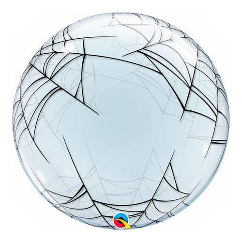 Bubble Decorativo 24 Polegadas - Teia de Aranha - Qualatex