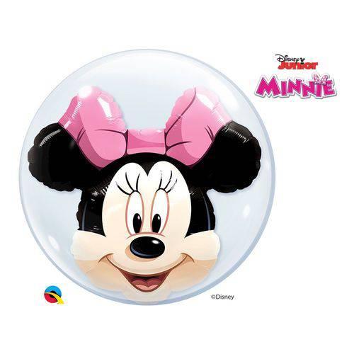 Bubble Duplo 24 Polegadas - Disney Minnie Mouse - Qualatex