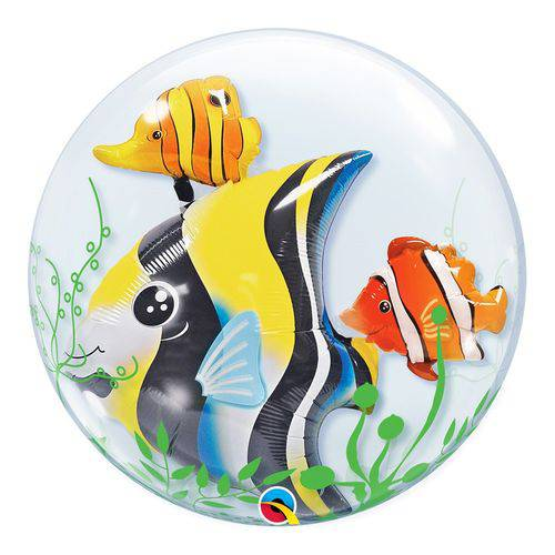 Bubble Duplo 24 Polegadas - Peixe Tropical e Algas - Qualatex