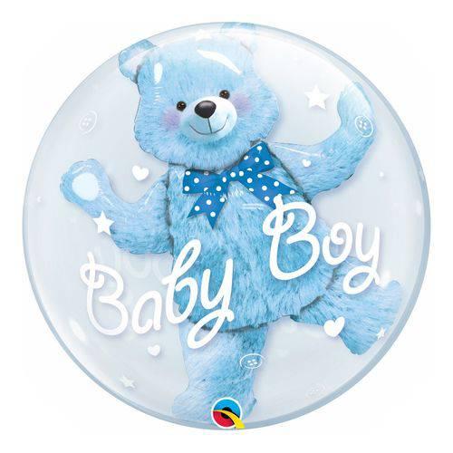 Bubble Duplo 24 Polegadas - Ursinho Azul - Qualatex