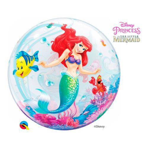 Bubble 22 Polegadas - a Pequena Sereia da Disney - Qualatex