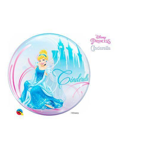 Bubble 22 Polegadas - Debute Real de Cinderella da Disney - Qualatex