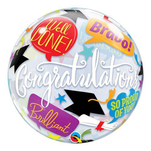 Bubble 22 Polegadas - Graduation Accolades - Qualatex