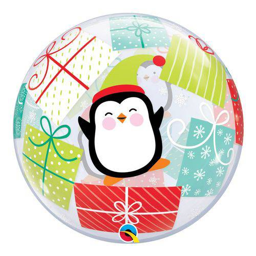 Bubble 22 Polegadas - Penguins & Presents - Qualatex