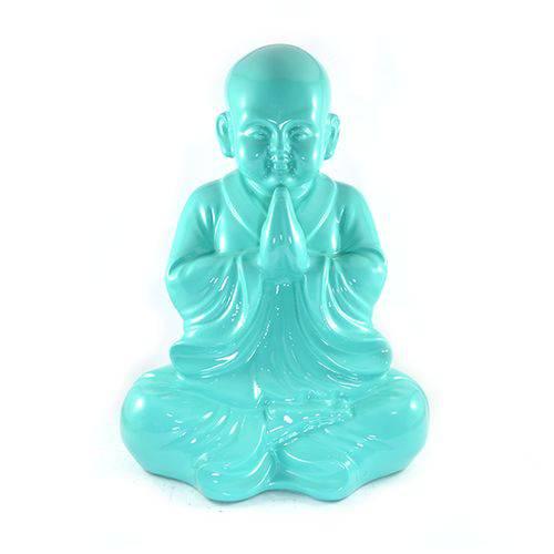 Buda Chinês Grande Verde Intenso Estátua.