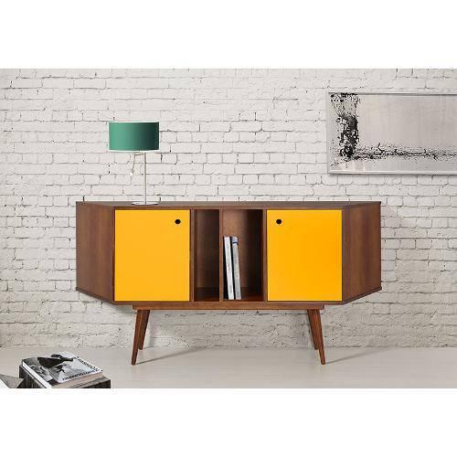 Buffet Daring 2 Portas Cacau/Amarelo Maxima