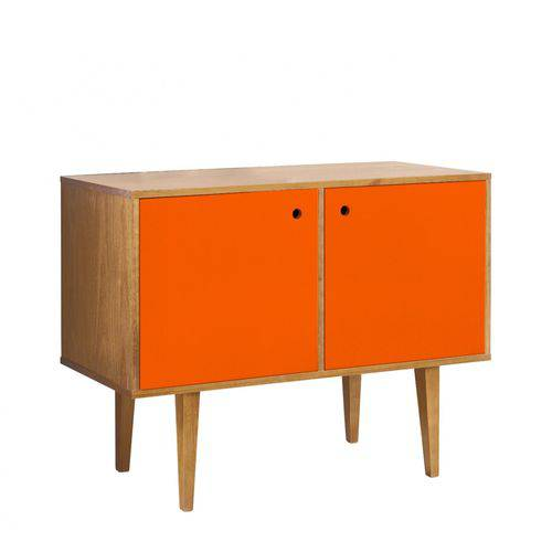 Buffet 2 Portas Vintage Maxima Nogal/laranja Novo