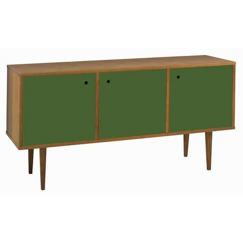 Buffet 3 Portas Vintage Maxima Verde Escuro