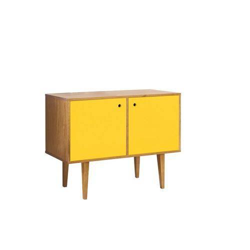 Buffet Vintage com 2 Portas na Cor Amarelo