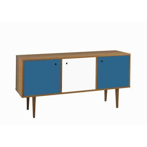 Buffet Vintage 3 Portas Branco e Azul Corporativo