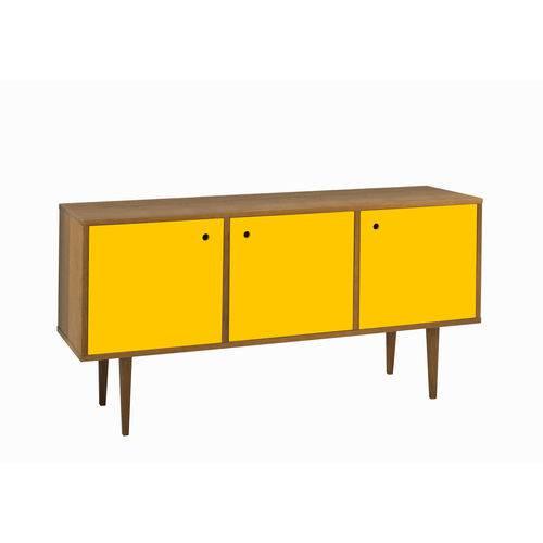 Buffet Vintage 3 Portas Nogal/amarelo