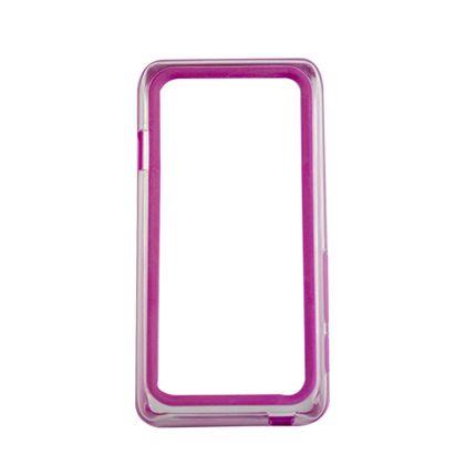 Bumber Motorola D3 Transparente com Roxo - Idea