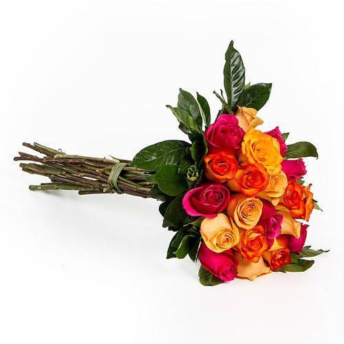 Buquê de Rosas Colombianas Coloridas