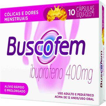 Buscofem 400mg Boehringer 10 Cápsulas Liqui-gels