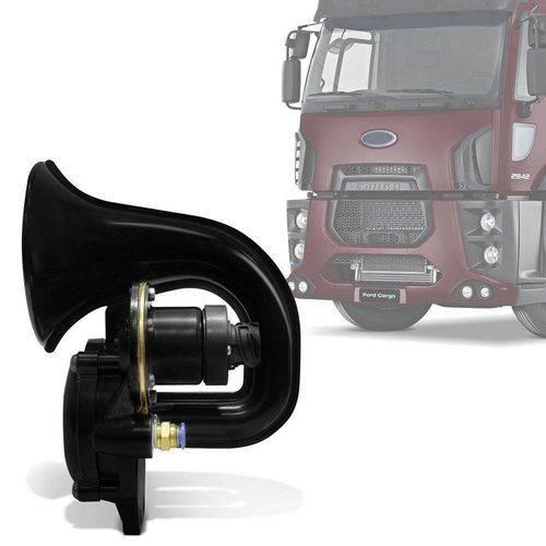 Buzina Eletropneumática Caminhão 12v Preta