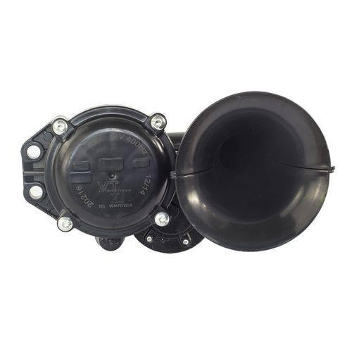 Buzina Eletropneumática P/ Caminhão Vetor Vt047 12V Universal Preta