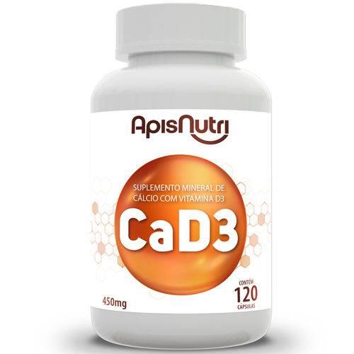 Ca + D3 Cálcio + Vitamina D3 Apisnutri 120 Cápsulas