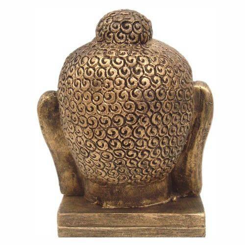 Cabeça de Buda Média Decoração Cor Ouro.