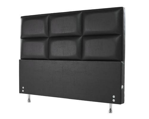 Cabeceira Estofada para Cama Box Casal 127x142 Courvin Preto