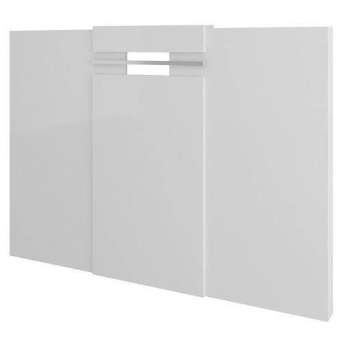 Cabeceira Extensível Cama Box Casal Normal ou Queen 1019 Branco - Carraro