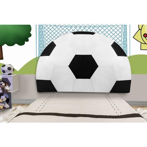 Cabeceira Painel Bola Futebol Jogador Copa para Cama Solteiro Quarto Infantil Box 100cm