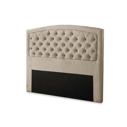 Cabeceira Painel Geovana P/ Cama King Quarto Box 195cm Bege Marfim