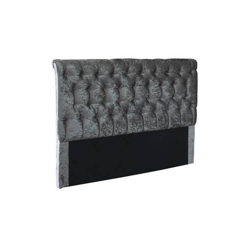 Cabeceira Painel Maria P/ Cama King Quarto Box 195cm Cinza Acetinado